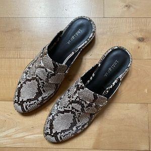 Indigo Rd Snakeskin Printed MULES Shoes 7.5 Womens